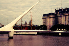 Γέφυρα madero Puerto mujer Στοκ φωτογραφία με δικαίωμα ελεύθερης χρήσης