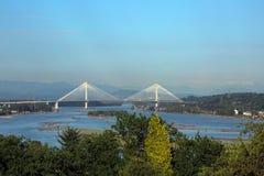 Γέφυρα Mann λιμένων πέρα από τον ποταμό Fraser στοκ εικόνες με δικαίωμα ελεύθερης χρήσης