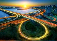 Γέφυρα Mapo και εικονική παράσταση πόλης της Σεούλ στην Κορέα Στοκ εικόνα με δικαίωμα ελεύθερης χρήσης