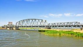 Γέφυρα Meiningen μέσα - μεταξύ Zingst και Bresewitz, mecklenburg-δυτικό Pomerania, Γερμανία στοκ εικόνες με δικαίωμα ελεύθερης χρήσης