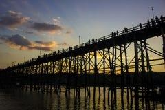 γέφυρα mon ξύλινη Στοκ Εικόνα