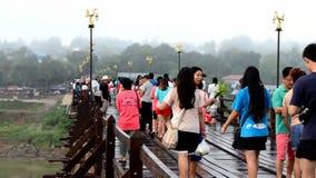 Γέφυρα Mon σε Sangkha Buri Kanchanaburi, Ταϊλάνδη φιλμ μικρού μήκους