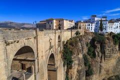 Γέφυρα Nuevo Puente στη Ronda, Ισπανία Στοκ εικόνα με δικαίωμα ελεύθερης χρήσης