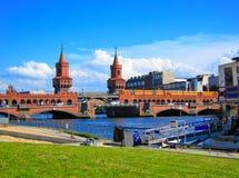 Γέφυρα Oberbaum, Γερμανία Στοκ Φωτογραφίες