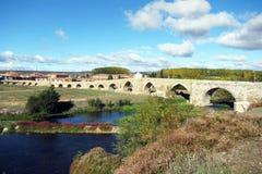 Γέφυρα Orbigo Στοκ εικόνα με δικαίωμα ελεύθερης χρήσης
