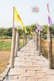 Γέφυρα pe SU Tong, όμορφη γέφυρα μπαμπού στο γιο της Mae Hong Στοκ εικόνα με δικαίωμα ελεύθερης χρήσης