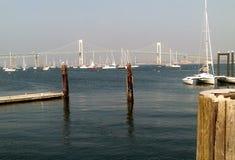 Γέφυρα Pell Νιούπορτ Claiborne στοκ φωτογραφίες