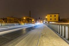 γέφυρα Pescantina Bussolengo στα Χριστούγεννα 2017 Στοκ Εικόνες