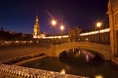 Γέφυρα Plaza de Espana στη Σεβίλη Στοκ εικόνα με δικαίωμα ελεύθερης χρήσης