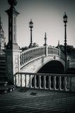 Γέφυρα Plaza de Espana στη Σεβίλη, Ισπανία, Ευρώπη Στοκ Φωτογραφία