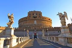 Γέφυρα Ponte αγγέλων Sant Angelo Castle Bernini Castel Στοκ φωτογραφίες με δικαίωμα ελεύθερης χρήσης