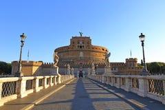 Γέφυρα Ponte αγγέλων Sant Angelo Castle Bernini Castel Στοκ Φωτογραφία