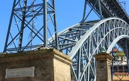 Γέφυρα Ponte Luisi στο Πόρτο, Πορτογαλία Στοκ Εικόνες