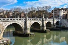 Γέφυρα Ponte Sant Angelo του Angelo Sant στοκ φωτογραφία