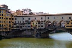 Γέφυρα Ponte Vecchio και το Arno Rive στη Φλωρεντία Στοκ φωτογραφία με δικαίωμα ελεύθερης χρήσης