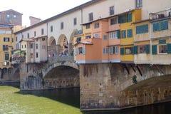 Γέφυρα Ponte Vecchio και το Arno Rive στη Φλωρεντία Στοκ Φωτογραφία