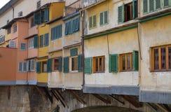 Γέφυρα Ponte Vecchio και το Arno Rive στη Φλωρεντία Στοκ Εικόνα