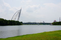 Γέφυρα Putrajaya Στοκ φωτογραφίες με δικαίωμα ελεύθερης χρήσης