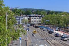 Γέφυρα Quaibrucke κάτω από την αποκατάσταση Στοκ εικόνα με δικαίωμα ελεύθερης χρήσης