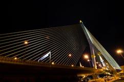 γέφυρα rama8 Ταϊλάνδη της Μπανγκόκ Στοκ Εικόνα