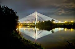Γέφυρα Redzinski σε Wroclaw, Πολωνία Στοκ εικόνα με δικαίωμα ελεύθερης χρήσης