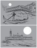 Γέφυρα Rialto και εκκλησία SAN Giorgio Di Maggiore Στοκ Εικόνες