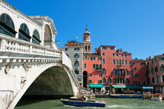 Γέφυρα Rialto στη Βενετία Στοκ Φωτογραφία