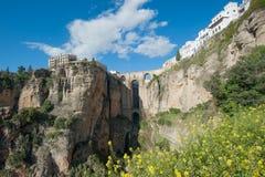 γέφυρα ronda Ισπανία της Ανδαλουσίας Στοκ Εικόνα