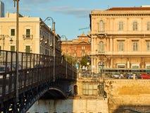 Γέφυρα SAN Francesco Di Paola Taranto, Apulia, Ιταλία Στοκ Εικόνες
