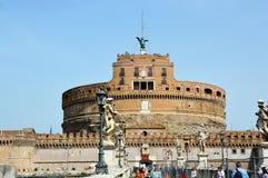 Γέφυρα Sant ` Angelo Castel, Ρώμη, Ιταλία Στοκ εικόνες με δικαίωμα ελεύθερης χρήσης