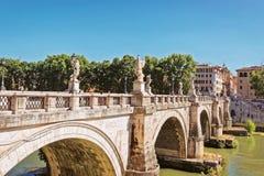 Γέφυρα Sant Angelo Ponte στη Ρώμη Ιταλία Στοκ Εικόνες