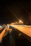 Γέφυρα Sarasin στη νύχτα Στοκ Εικόνα