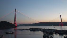 Γέφυρα Selim σουλτάνων Yavuz σε Bosphorus Στοκ φωτογραφία με δικαίωμα ελεύθερης χρήσης