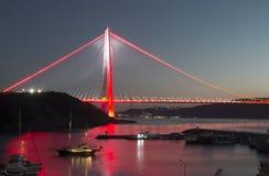 Γέφυρα Selim σουλτάνων Yavuz σε Bosphorus Στοκ εικόνες με δικαίωμα ελεύθερης χρήσης