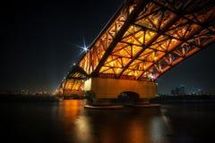 Γέφυρα Seongsan πέρα από τον ποταμό Han Στοκ Εικόνες