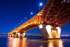 Γέφυρα Seongsu στην Κορέα Στοκ Εικόνα