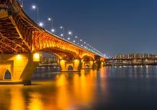Γέφυρα Seongsu στη Σεούλ, Κορέα Στοκ Φωτογραφίες