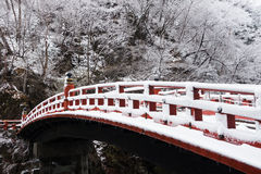 Γέφυρα Shinkyo σε Nikko, Ιαπωνία το χειμώνα Στοκ Εικόνα
