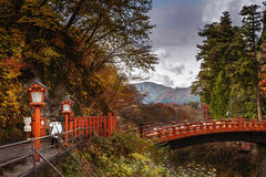 Γέφυρα Shinkyo, NikkÅ  (Tochigi) Kanto, Ιαπωνία Στοκ φωτογραφία με δικαίωμα ελεύθερης χρήσης