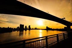 Γέφυρα Silhouate Στοκ Φωτογραφία