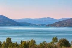 Γέφυρα Skarnsundet, Νορβηγία Στοκ Εικόνες