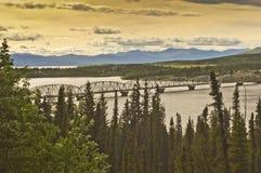 Γέφυρα Teslin Στοκ εικόνα με δικαίωμα ελεύθερης χρήσης