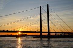 Γέφυρα Theodor heuss Στοκ Φωτογραφίες