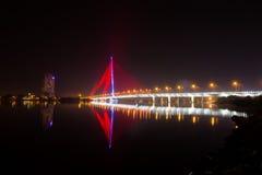 Γέφυρα Thi LY Tran τη νύχτα Στοκ εικόνες με δικαίωμα ελεύθερης χρήσης
