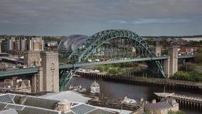 Γέφυρα Timelapse Τάιν απόθεμα βίντεο