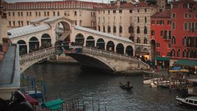 Γέφυρα Timelapse Rialto απόθεμα βίντεο