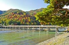 Γέφυρα Togetsukyo σε Arashiyama, Ιαπωνία Στοκ εικόνες με δικαίωμα ελεύθερης χρήσης