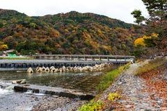 Γέφυρα Togetsukyo στο φθινόπωρο, Arashiyama Στοκ Εικόνα