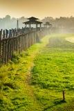 Γέφυρα Ubein στην ανατολή, το Μιανμάρ Στοκ εικόνες με δικαίωμα ελεύθερης χρήσης