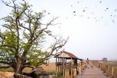 Γέφυρα Ubein στο Mandalay, το Μιανμάρ Στοκ εικόνα με δικαίωμα ελεύθερης χρήσης